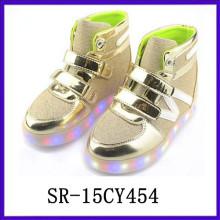 SR15CY545 Оптовая обувь ребенка обувь светодиодные туфли легкие ботинки USB rechargable