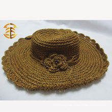 Wide Brim Cap Casual Summer Sunscreen Women Bohemian Raffia Straw Hat