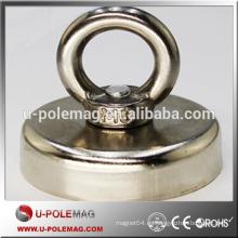 N52 Dia 60x15mm Ndfeb imán con gancho de anillo