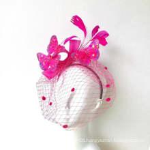 Pink Butterfly Fascinator Hat Women Custom Derby Hat Fascinator, Pink Butterflies Headdress, Butterfly Headband