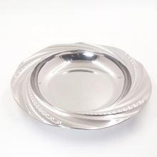 plats de soupe profonds ronds en acier inoxydable de 8 po en miroir