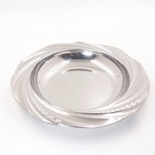 """дешевые зеркальные 8 """"круглые глубокие суповые тарелки из нержавеющей стали для продажи"""