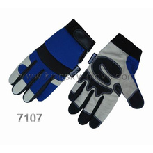 Pig Grain Double Palm Mechanic Work Glove-7307