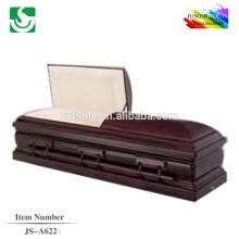 comprar comércio de madeira sólido de JS-A622 caixões fúnebres de garantia fornecedor