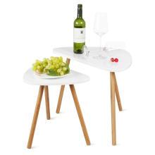 Mesa de centro de madera moderna y mesa auxiliar mesa de centro