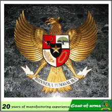 10 Years Experience Huahui Factory Customize Eagle Shape Metal Emblem