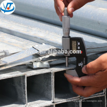 "carbon black galvanized steel pipe / tube 6"" square pipe"