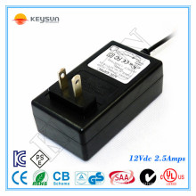Power Adapter 12V 2.5A 30W AC to DC Power Supply for LED indoor lighting