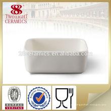 Изготовленный на заказ белый керамический сахара квадратная миска с ложкой