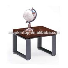 Design de mesa de café elegante para escritório de zebra vermelha e acabamento de ferro profundo, móveis de escritório Fashional para venda (JO-4034-06)