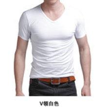 Plain Slim Fit Baumwolle Mixed Spandex Männer T-Shirt