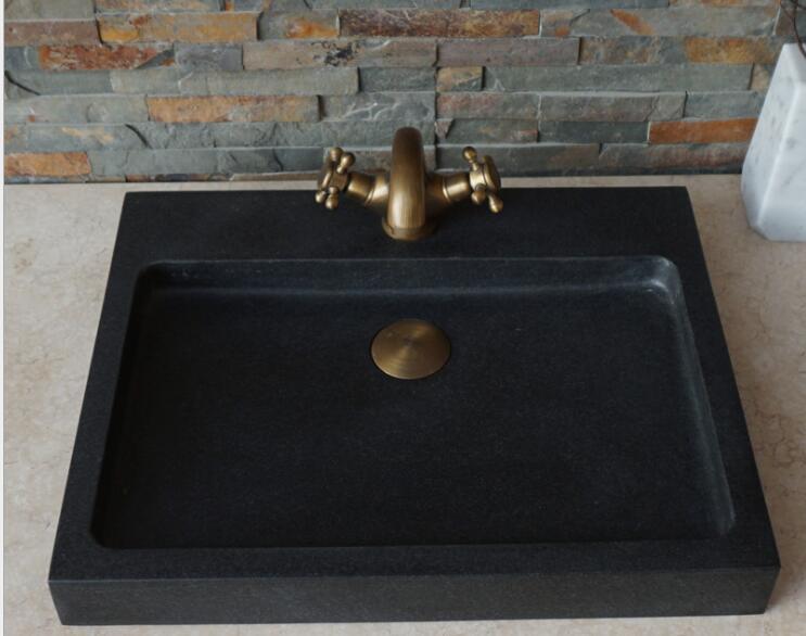 Black Stone Vessel Sink