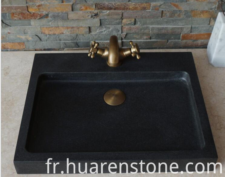 Black Stone Vessel Sink