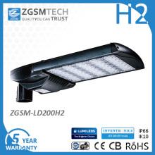 5 Jahre Garantie UL Dlc EMC LVD RoHS SAA IP66 Ik10 LED Straßenleuchte mit Fotozelle
