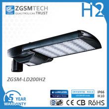 5 ans de garantie UL Dlc EMC LVD RoHS SA66 IP66 Ik10 LED réverbère avec photocellule