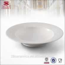 Sopa de cerámica, Sopa de porcelana blanca, Vajilla de hotel y restaurante