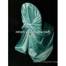 Cravate de couverture de chaise de satin brillant, couverture de chaise de mariage s'attacher