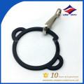 Factory wholesale key chain black simple circle key chain