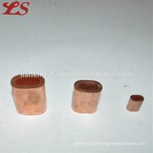 Flache ovale Kupfer-Aderendhülsen