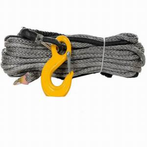 Gray Synthetic Winch Rope