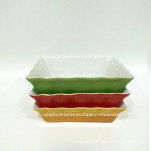 High Temperature Color Glazed Ceramic Bakeware (set)