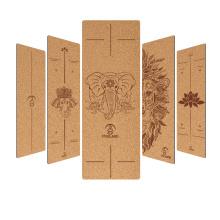 Yugland Wholesale Custom Size Yoga Mat eco custom print cork yoga mats natural organic Natural