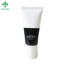 Black and white cosmetic box packaging screw cap plastic tube with mirror