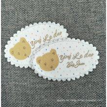 Etiquetas tejidas de la ropa del cliente
