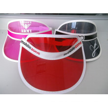 Custom High Quality Cheap Colorful PVC Sun Visor Dongguan Factory