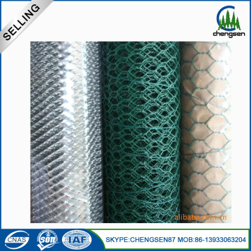 Fabrication de fil de tissage hexagonal enduit de PVC