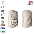 Camelot Satin Nickel Keypad Deadbolt