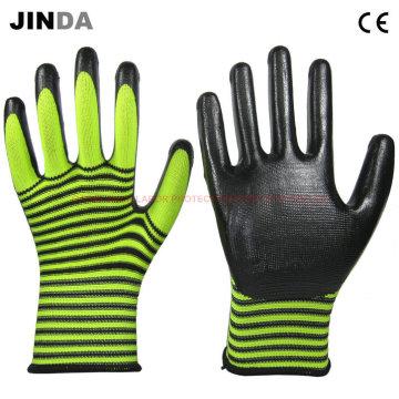 Рабочие перчатки с покрытием из нитрилового нейлона (NS017)