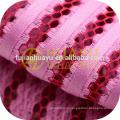 100% полиэстер трикотажная сетчатая ткань для платья
