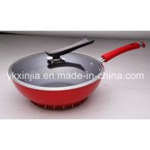 Utensilios de cocina Aluminio antiadherente Wok para el mercado europeo Utensilios de cocina