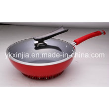 Kitchenware Aluminum Non-Stick Wok for European Market Cookware