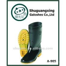 durable men's pvc half rain boots safety shoes