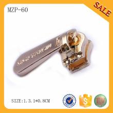 MZP60 alibaba expresa los vestidos de metal de cremallera de latón de alta calidad personalizada logo de metal de alta cremallera para la ropa
