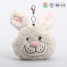 Animal shape plush small money bag, plush bunny change pocket, plush rabbits coin pocket