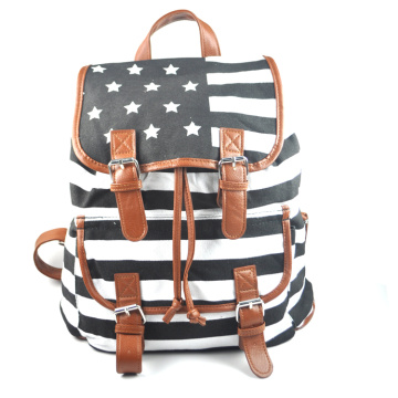 colorful printing canvas backpack bag