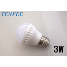 led light bulb plastic 3w E27 good radiator