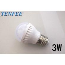 bombilla de luz LED plástico 3w E27 buen radiador