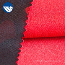 Tela de matéria têxtil impressa camuflagem Tricot da escova do poliéster