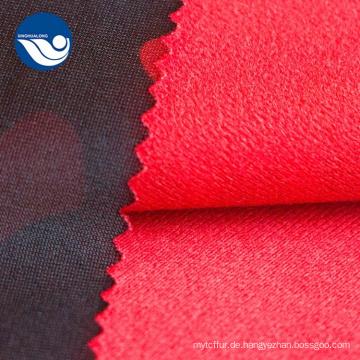 Polyester-Tarnung gedrucktes Bürsten-Trikot-Textilgewebe