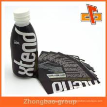 Etiqueta plástica imprimible de encargo de la botella en forma de la manga