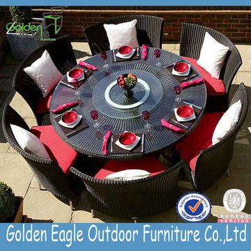 Resistant Outdoor Round Table und Stuhl Set