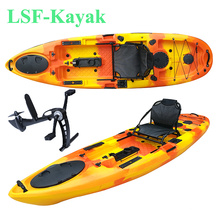 Wholesale 10ft plastic sit on top foot pedal drive fishing kayak sea fishing kayak pedal power fishing kayak price