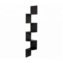 Large zig zag corner wall shelf