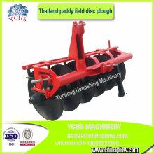 Charrue à disques de riz d'équipement agricole pour le tracteur de 4 roues