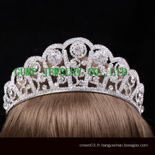 Nouveau design Crystal tiara silver Rhinestone crown