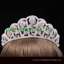Новый дизайн Кристалл тиара серебро горный хрусталь корону